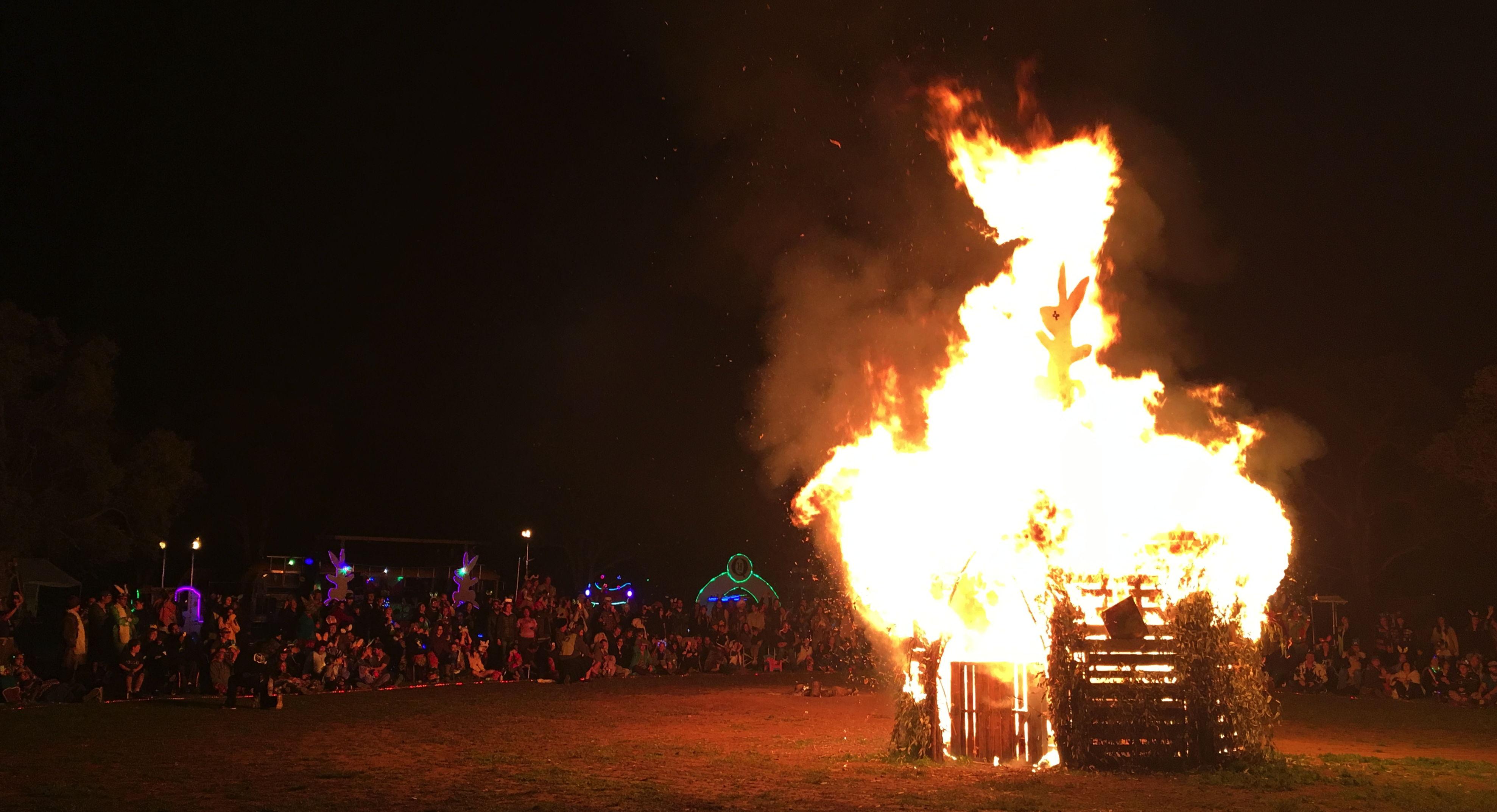 Burning Bunny Temple